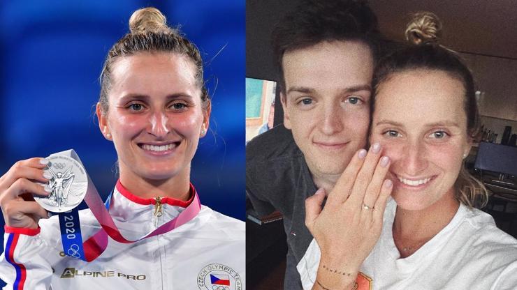 Markéta Vondroušová se zasnoubila. Stříbrná medailistka z Tokia řekla ano své lásce z dětství