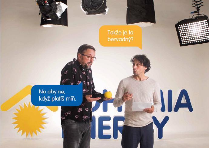 Marek Daniel s Pavlem Liškou v klipu pro Bohemia Energy.