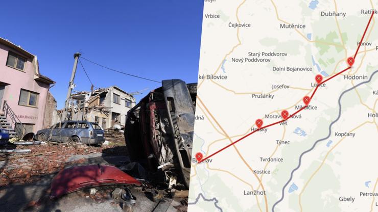 Temných 26 km cesty smrti: Zkázonosné tornádo se rozpadlo v lese za Hodonínem