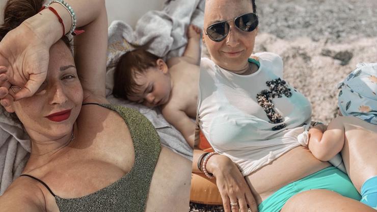 Veronika Arichteva 10 měsíců po porodu v plavkách: Mám břicho a nebojím se ho použít