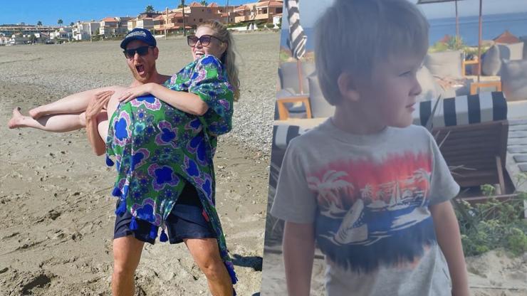 Nikol Leitgeb vyrazila s celou rodinou k moři: Syn Mathias pobavil fanoušky