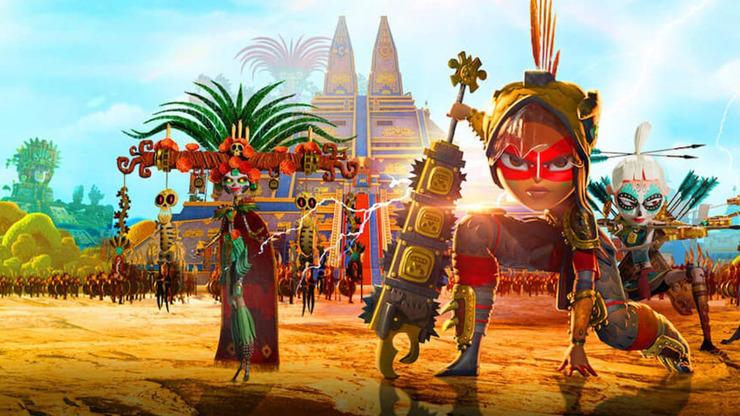 Nový pohádkový seriál Netflixu Maya a tři bojovníci.
