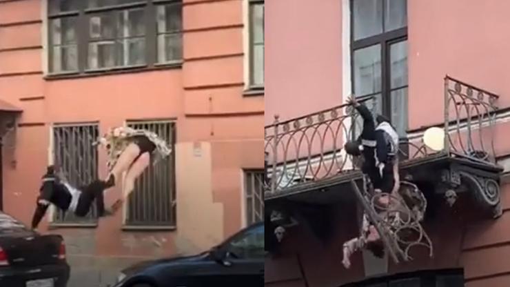 Drsné záběry: Pár při hádce vylomil zábradlí a padal 7 metrů, jen zázrakem přežil!