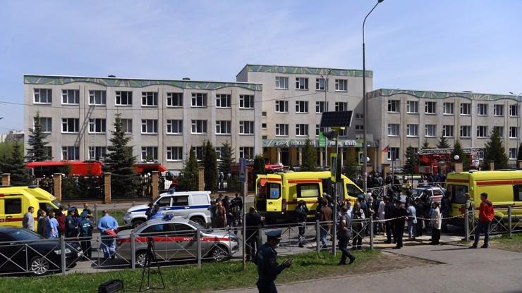 Masakr ve škole:  V Kazani zastřelili nejméně 9 dětí a učitelku, další žáci jsou zranění