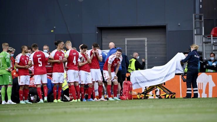 Boj o život na fotbalovém EURU 2021: Christian Eriksen (29) padl jako podťatý
