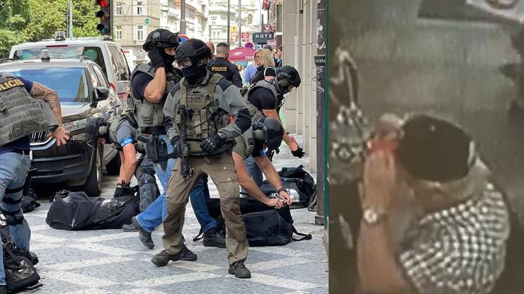 Střelba v Praze: První záběry z dopadení nebezpečného muže. Hřib poděkoval policii