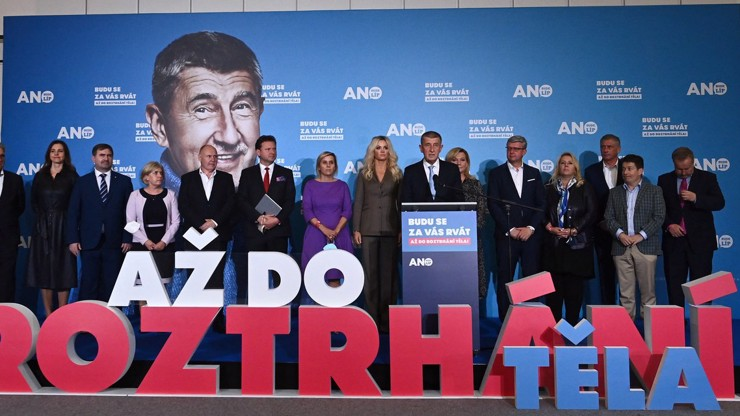 Andrej Babiš pogratuloval koalici SPOLU.