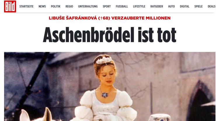 Kvůli Šafránkové (†68) truchlí i Německo: Zemřela také naše Popelka, píší tamní média