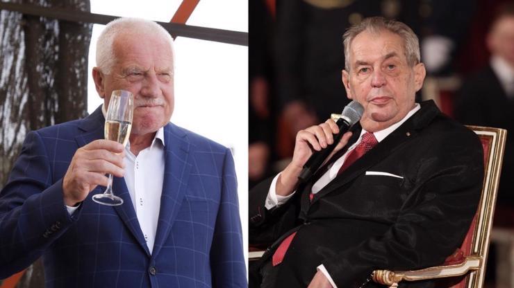 Prezident píše prezidentovi: Těmito slovy Zeman pogratuloval Klausovi k 80. narozeninám