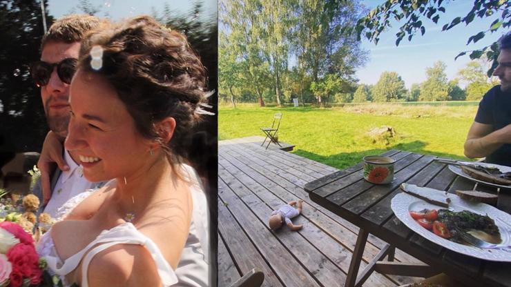 Svatební cesta? Provokatérka Berenika Kohoutová vyrazila místo na pláž na chatu