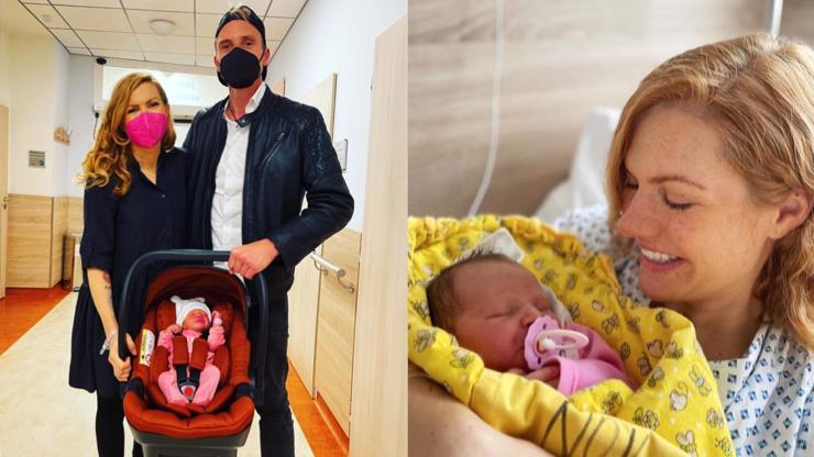 Zpátky doma: Gábina Soukalová se vrátila z porodnice