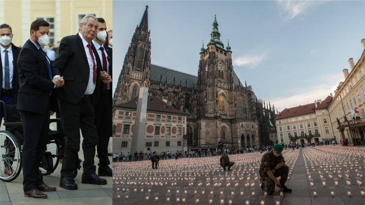 Na Hradě svítí 30 tisíc svíček za oběti covidu: Za smrt některých neseme odpovědnost my sami, řekl Zeman