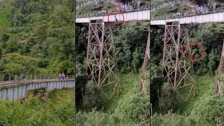 HRŮZNÉ VIDEO: Dívka (†25) při bungee jumpingu skočila z mostu, nevšimla si, že není připoutaná