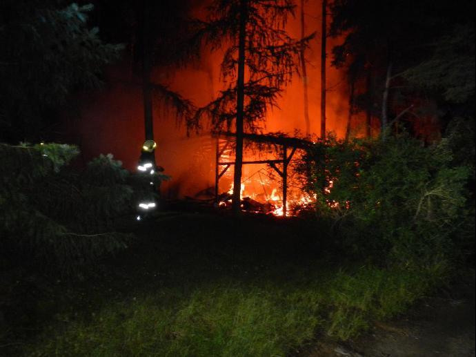 Požár u Orlické přehrady